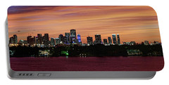 Miami Sunset Panorama Portable Battery Charger