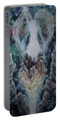 Portable Battery Charger featuring the painting Michael by Cheryl Pettigrew