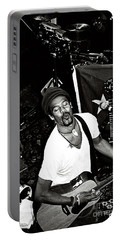 Portable Battery Charger featuring the photograph Michael Franti Live by John F Tsumas