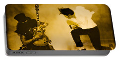 Portable Battery Charger featuring the photograph Michael Jackson And Slash Gold by Gary Keesler