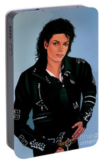 Michael Jackson Bad Portable Battery Charger by Paul Meijering