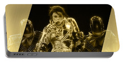 Michael Jackson Gold Portable Battery Charger