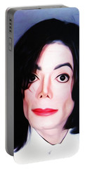 Michael Jackson Mugshot Portable Battery Charger by Bill Cannon