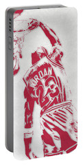 Michael Jordan Chicago Bulls Pixel Art 1 Portable Battery Charger