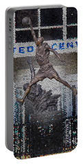 Michael Jordan Stained Glass Portable Battery Charger