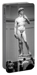 Portable Battery Charger featuring the photograph Michelangelo's David by Sonny Marcyan