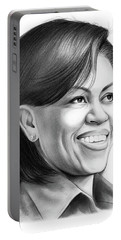 Michelle Obama Portable Battery Charger by Greg Joens