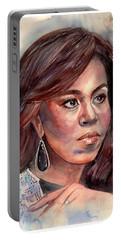 Michelle Obama Portrait Portable Battery Charger