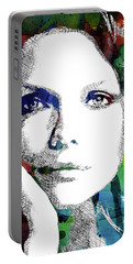 Michelle Pfeiffer Portable Battery Charger by Mihaela Pater
