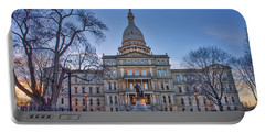 Portable Battery Charger featuring the photograph Michigan State Capitol by Nicholas Grunas