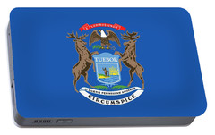 Michigan State Flag Portable Battery Charger by American School