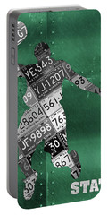 Michigan State Spartans Basketball Player Recycled Michigan License Plate Art Portable Battery Charger