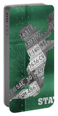 Michigan State Spartans Receiver Recycled Michigan License Plate Art Portable Battery Charger