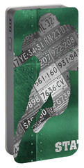 Michigan State Spartans Running Back Recycled Michigan License Plate Art Portable Battery Charger