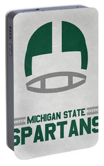 Michigan State Spartans Vintage Art Portable Battery Charger by Joe Hamilton