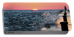 Michigan Summer Sunset Portable Battery Charger