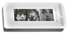 Mick Jagger Triptych Portable Battery Charger