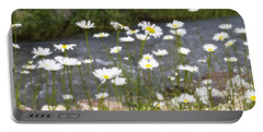Mickelson Trail Daisies Portable Battery Charger