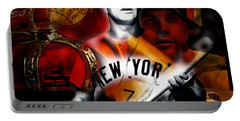 Mickey Mantle Collection Portable Battery Charger by Marvin Blaine
