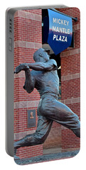 Mickey Mantle Portable Battery Charger by Frozen in Time Fine Art Photography