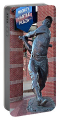 Mickey Mantle Plaza Portable Battery Charger by Frozen in Time Fine Art Photography