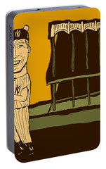 Mickey Mantle Yankee Stadium Portable Battery Charger by Jay Perkins