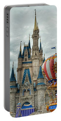 Portable Battery Charger featuring the photograph Mickey Mouse Disney House by Nikki McInnes