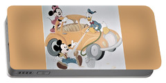 Micky,minnie And Donald On Car Portable Battery Charger