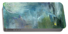 Portable Battery Charger featuring the painting Mid-day Reflection by Michal Mitak Mahgerefteh