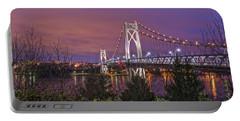 Mid Hudson Bridge At Twilight Portable Battery Charger