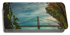 Portable Battery Charger featuring the photograph Mid Hudson Bridge by Chris Lord