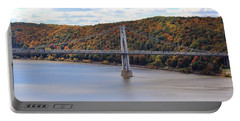 Mid Hudson Bridge In Autumn Portable Battery Charger