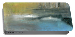Portable Battery Charger featuring the painting Mid-summer Glow by Michal Mitak Mahgerefteh