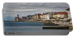Portable Battery Charger featuring the photograph Midday In Piran - Slovenia by Stuart Litoff