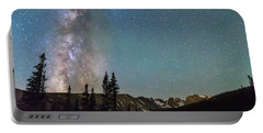 Middle Of The Night Milky Way Above The Rocky Mountains Portable Battery Charger