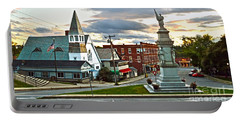 Middlebury Vermont At Sunset Portable Battery Charger by Catherine Sherman