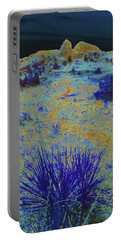 Midnight At The Burning Coal Vein Portable Battery Charger