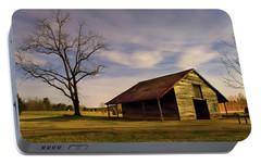 Portable Battery Charger featuring the photograph Midnight At The Mule Barn by George Randy Bass