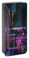 Midnight At Tiffany Painting Portable Battery Charger