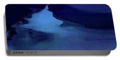 Portable Battery Charger featuring the digital art Midnight Blue by Gina Harrison