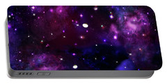 Midnight Blue Purple Galaxy Portable Battery Charger