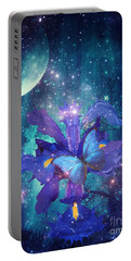 Portable Battery Charger featuring the digital art Midnight Butterfly by Mo T