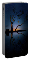 Portable Battery Charger featuring the photograph Midnight Dance Of The Trees by Mark Andrew Thomas