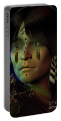 Portable Battery Charger featuring the digital art Midnight Dreaming by Shadowlea Is