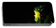 Midnight Flower Portable Battery Charger by Angela J Wright