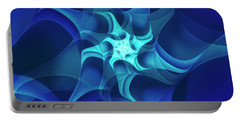 Portable Battery Charger featuring the digital art Midnight Flower by Jutta Maria Pusl