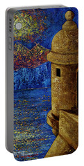 Midnight Mirage In San Juan Portable Battery Charger by Oscar Ortiz