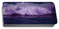 Midnight Ocean Wave In Ultra Violet Portable Battery Charger