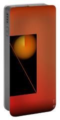 Midnight Orange Portable Battery Charger by John Krakora