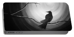 Midnight Raven Noir Portable Battery Charger
